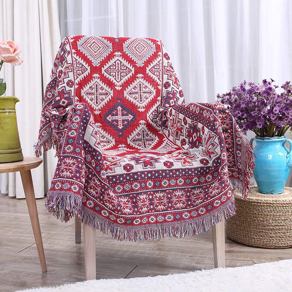 GAOWORD Baumwolldecke Dicke Farbe Atmungsaktiv Büro Freizeit Sofa Decken Warme Winter Gestrickte Hintergrund Decke Dekorative Bettwäsche,130  180Cm