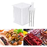 FLY5D 36 Holes BBQ Kabob Skewer Maker with Stainless Steel Skewers Kebab Maker Box Beef Meat Tools Barbecue's Good Helper