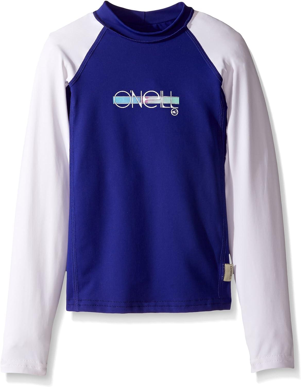 ONEILL Premium Skins - Camiseta de Manga Larga para niña (protección Solar 50+), Mujer, Color Cobalt/White, tamaño 4: Amazon.es: Deportes y aire libre
