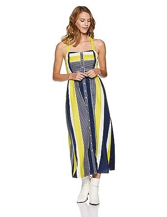 e40a596edfdfb Stalk Buy Love Women's Crepe Striped Janet Smocking Detail Maxi Dress  (In1813Mtodresti-177_X-