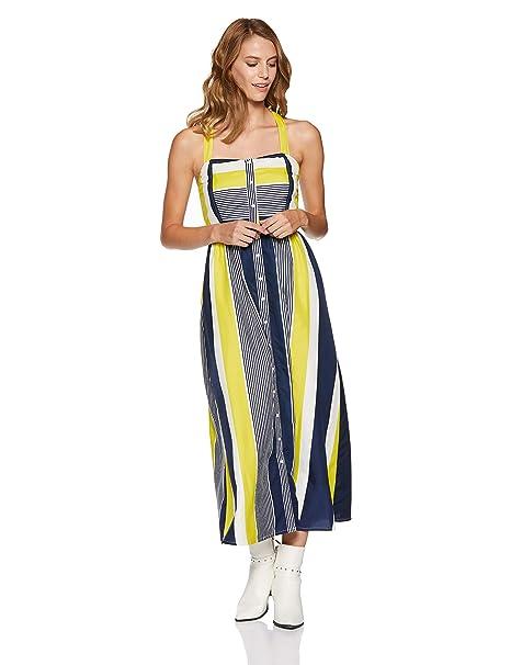 bba806088 Stalk Buy Love Women s Crepe Striped Janet Smocking Detail Maxi Dress  (In1813Mtodresti-177 X-