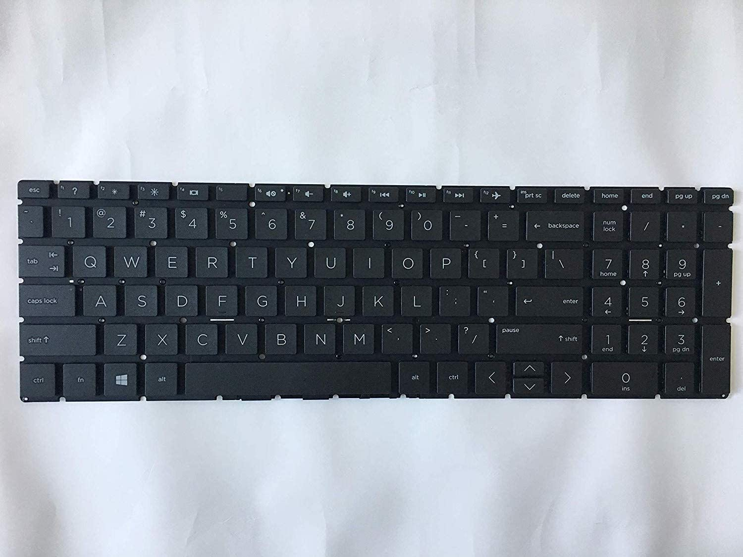 Laptop Replacement of New US Black Keyboard Fit HP 15-DA0020NR 15-DA0034NR 15-DA0033WM 15-DA0053WM 15-DA0073WM 15-DA0043NR,no Frame