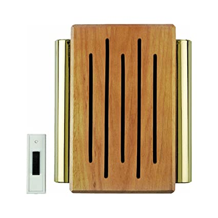 Carlon Lamson & Sessons RC3306F Wood And Brass Wireless Door Chime ...