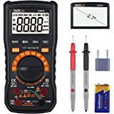 Tacklife Multimeter, DM01M Advanced Digital True RMS 6000 Counts Tester Non Contact Voltage Detection, Temperature, Live Line, AC/DC Voltage, Current, Resistance Multi Testes Voltmeter Ammeter Ohmmeter Ampere Meters with LCD Backlight