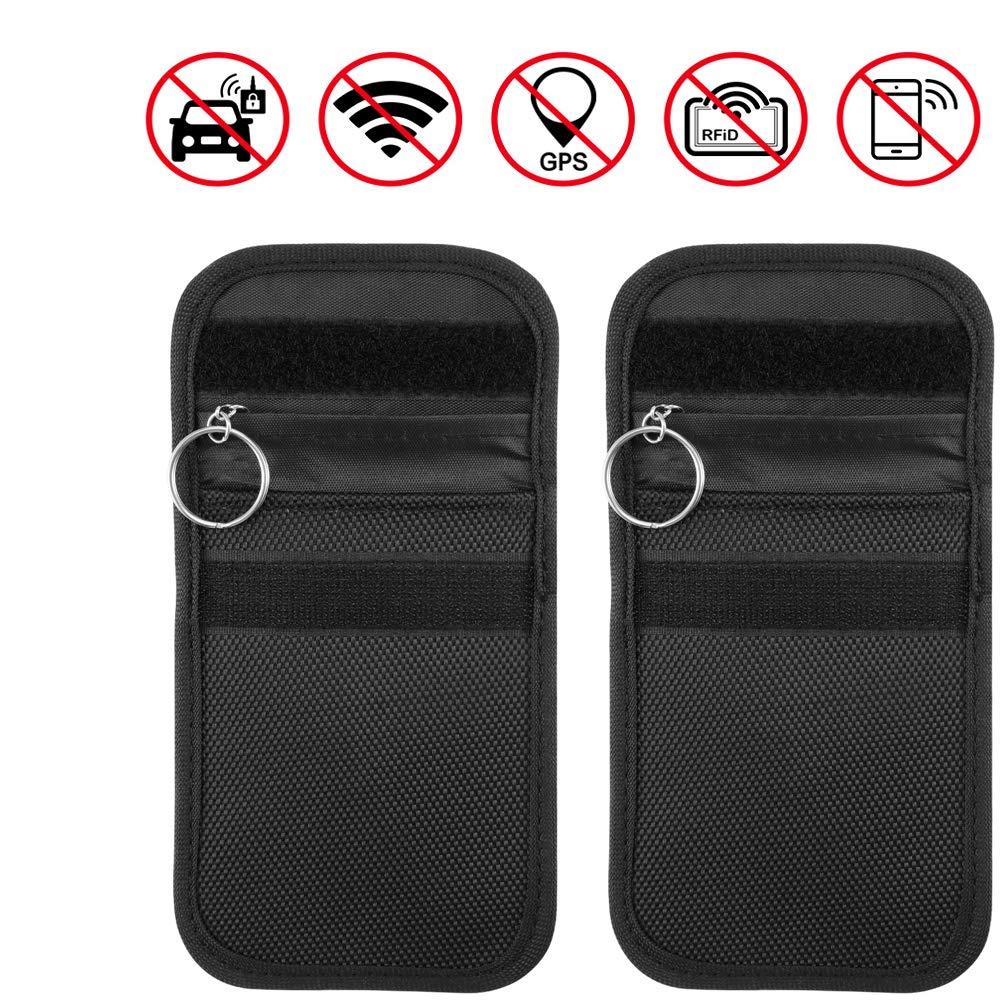 AOZBZ Autoschlü ssel-Signal-blockierender Schutztasche fü r Kreditkarten, Diebstahlschutz, Diebstahlsicherung