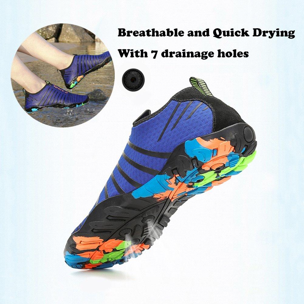 Kuuland Water Shoes Quick Dry Barefoot Aqua Socks Beach Swim Pool Surf Shoes for Swimming Diving Walking Yoga Men Women B07BP2GWXV 6.5 D(M) US|Green01