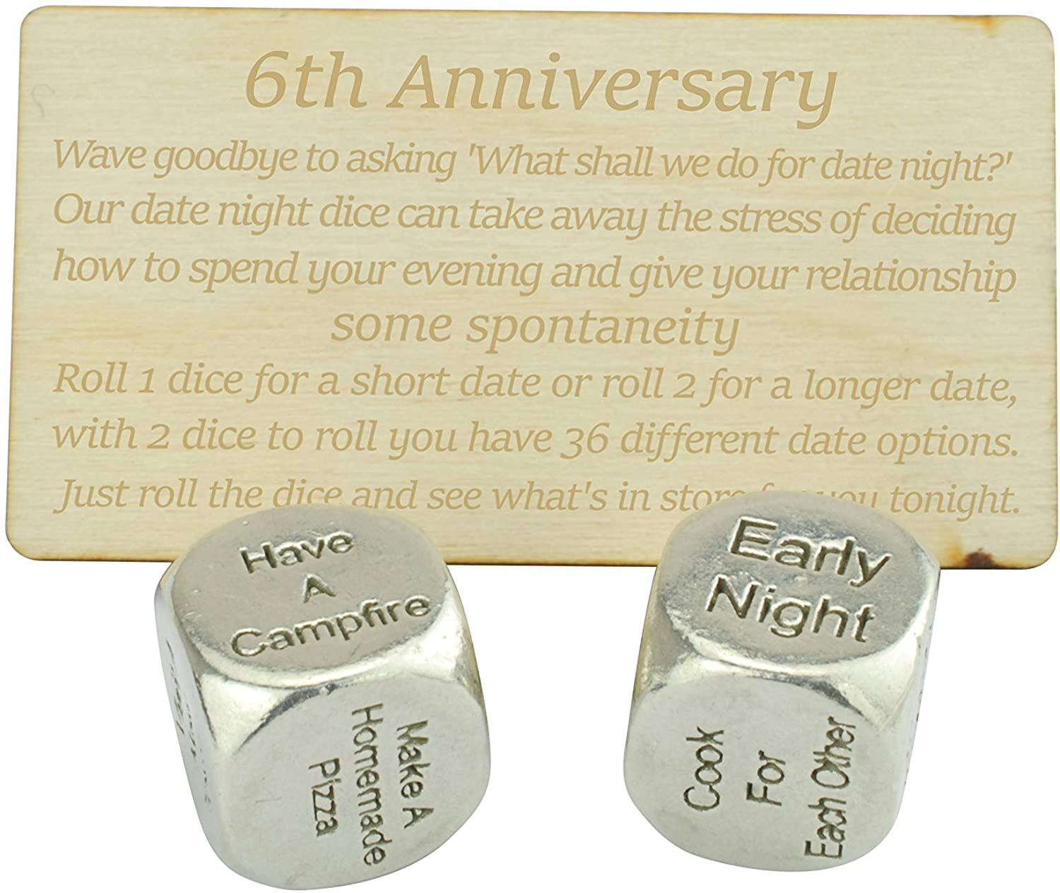 6th Wedding Anniversary Date Night Dice Ideas for Your 6 Year Wedding Anniversary