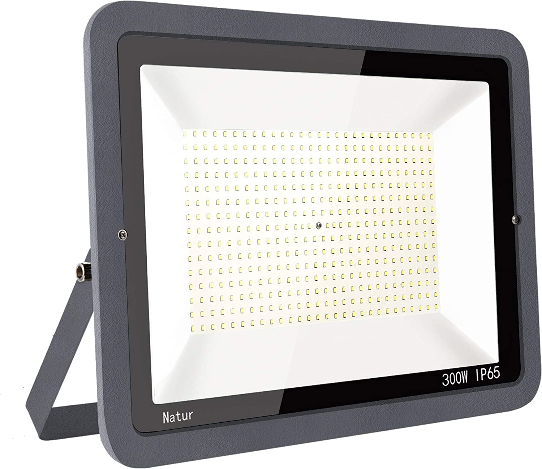 300W LED Foco Exterior Alto Brillo Proyector Led Impermeable IP65 Blanco Frío 6000K Floodlight Led Foco Exterior Iluminación para Patio, Camino, Jardín, Almacén [Clase de Eficiencia Energética A++]