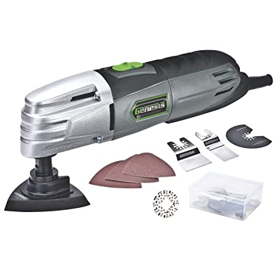Genesis GMT15A 1.5 Amp Multi-Purpose Oscillating Tool and 19-Piece Universal Hook-And-Loop Accessory Kit