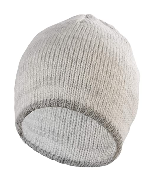 1de4ac465ca Women Men Winter Beanie Hat -White Cashmere Wool Acrylic Thick Knit Knitted  Warm Watch Stocking