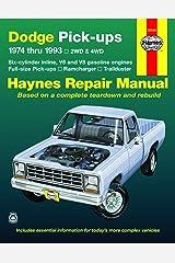 Dodge Ramcharger & Trailduster full-size Pick-ups (74-93) Haynes Repair Manual Paperback