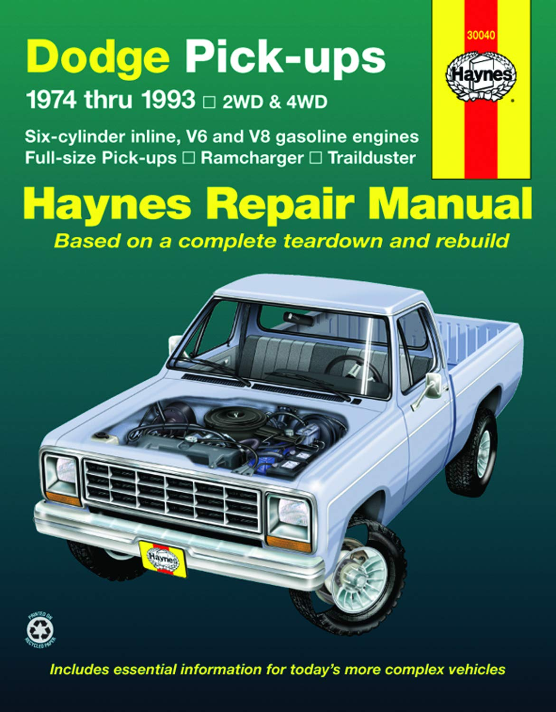 1974 Dodge Truck Shop Service Repair Manual CD Engine Drivetrain Electrical OEM