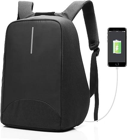 Sac à Dos Ordinateur Portable Imperméable École Voyage port USB anti vol Hommes épaule