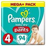 Pampers Baby-Dry Pants (Gr. 4 (9-15 kg), Windeln mit Luftkanälen) 1er Pack (94 Stück)
