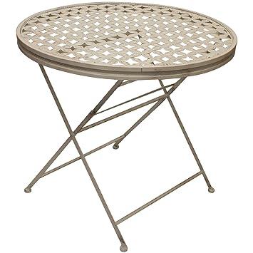 Woodside - Table de jardin - ronde/pliante - pour les patios ...