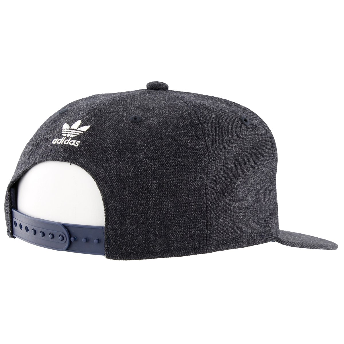 adidas Men's Originals Snapback Flatbrim Cap, Heather Navy, One Size by adidas Originals (Image #4)