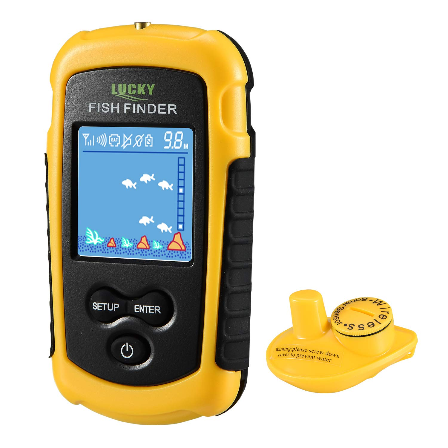 LUCKY Portable Wireless Fish Finders for Shore Fishing for Beginners