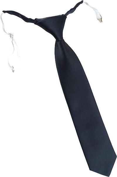 Krawatte vorgebunden mit Gummizug TigerTie Kinderkrawatte in Uni einfarbig
