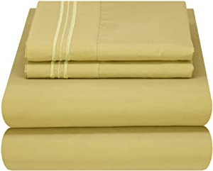 Mezzati Luxury Bed Sheet Set - Soft and Comfortable 1800 Prestige Collection - Brushed Microfiber Bedding (Green, Full Size)