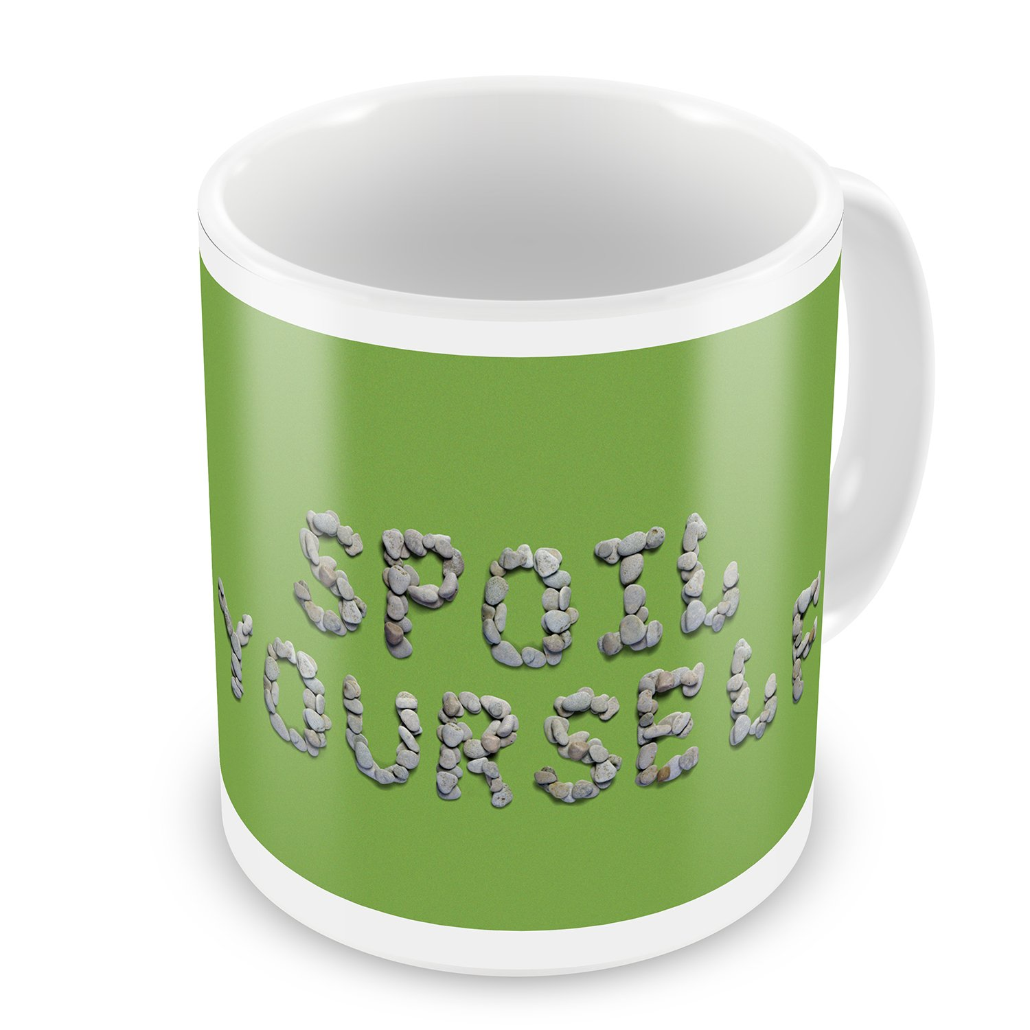 Coffee Mug Spoil Yourself Spa Stones Rocks - NEONBLOND