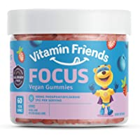 Vitamin Friends - Focus Supplement for Kids (60 Count) Smart Parents Support Memory Improvement and Mental Performance…