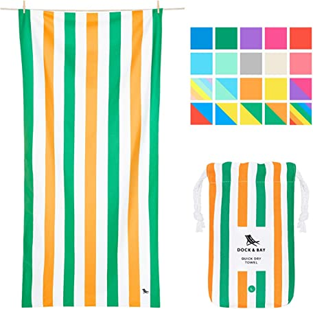 Dock & Bay Quick Dry Towel Beach Towels - Lazy Afternoons, Extra Large (200x90cm, 78x35) - Swim, Pool, Yoga, Travelling - Toalla Microfibra