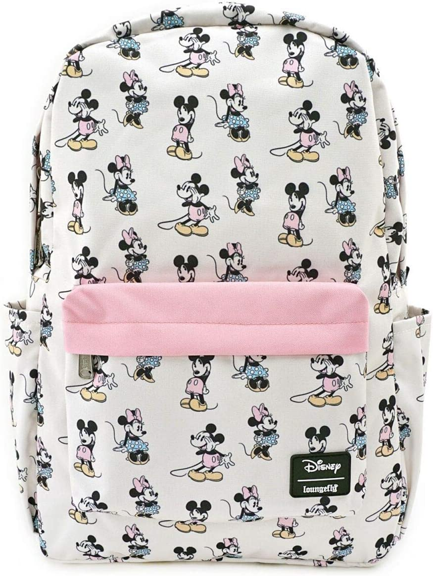 Loungefly Pastel Minnie Mickey Nylon Backpack Standard
