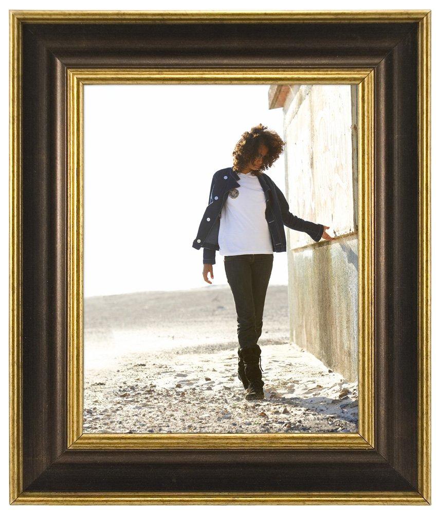 Bronze 1079-80 8x10 Malden International Designs Fashion Woods Bronze /& Gold Picture Frame