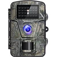 """Victure Wildkamera Nachtsicht Bewegungsmelder Jagdkamera 12MP 1080P 2.4"""" LCD Wasserdicht Wildtierkamera für Überwachung"""