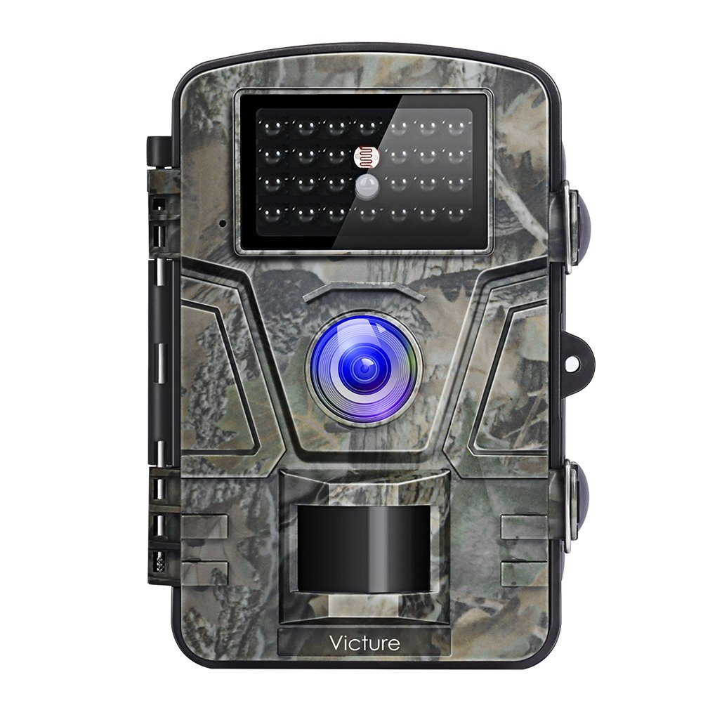 Victure Trail Camera 1080P 12MP Wildlife Camera Motion Activated Night Vision 20m with 2.4'' LCD Display IP66 Waterproof Design for Wildlife Hunting and Home Security