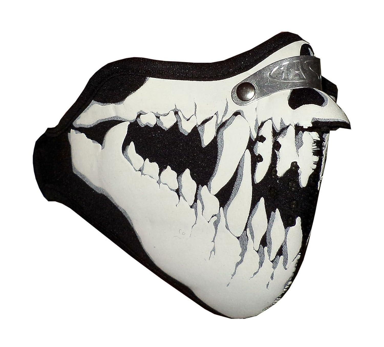 Biker Maske, Ski-Maske, Paintball-Gesichtsmaske - Grinsend Schädel-Entwurf