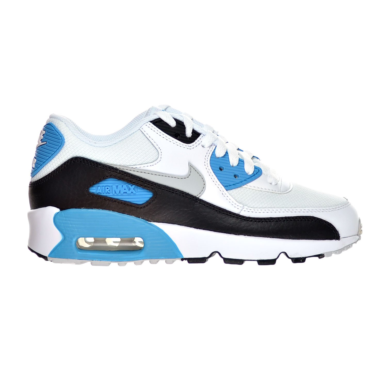 low priced 21b99 504f3 NIKE Air Max 90 Mesh(GS) Big Kid s Shoes White Neutral Grey Black Blue  Lagoon 833418-101 (7 M US)  Amazon.co.uk  Shoes   Bags