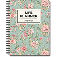 Nourish A5 Life Planner for 6 Months Undated Hardcover, Includes Monthly, Daily, Fitness and Financial Planner