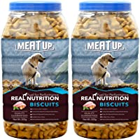 Meat Up Mutton Flavour, Real Chicken Biscuit, Dog Treats -500g Jar (Buy 1 Get 1 Free)
