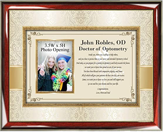 Amazon Com Allgiftframes Congratulation Optometry School Graduation Gift College University Picture Frame Graduate Doctor Of Optometry Ophthalmologist Optician Eye Physician Photo