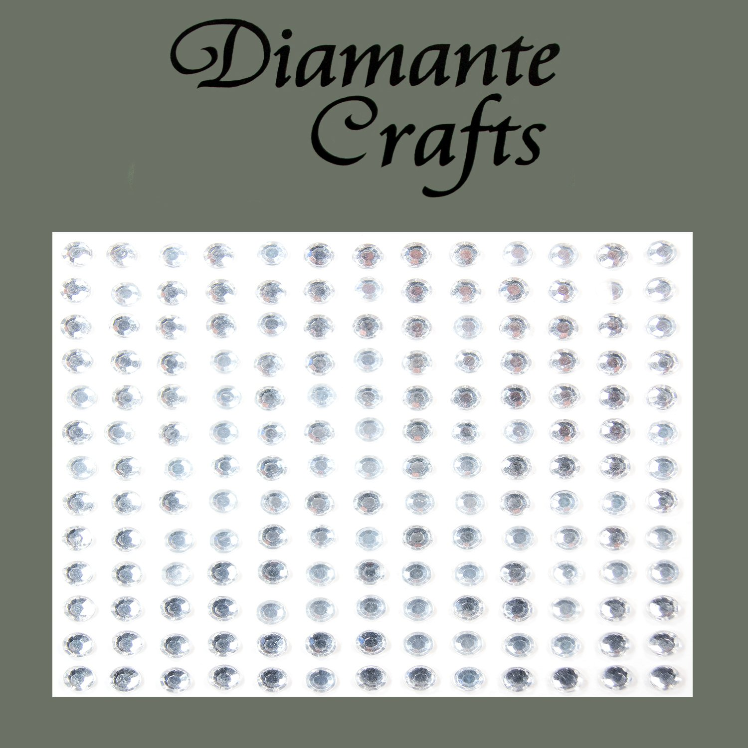 169 x 4mm Clear Diamante Self Adhesive Rhinestone Body Vajazzle Gems - created exclusively for Diamante Crafts
