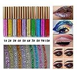 10 Colors Liquid Glitter Eyeliner Metallic