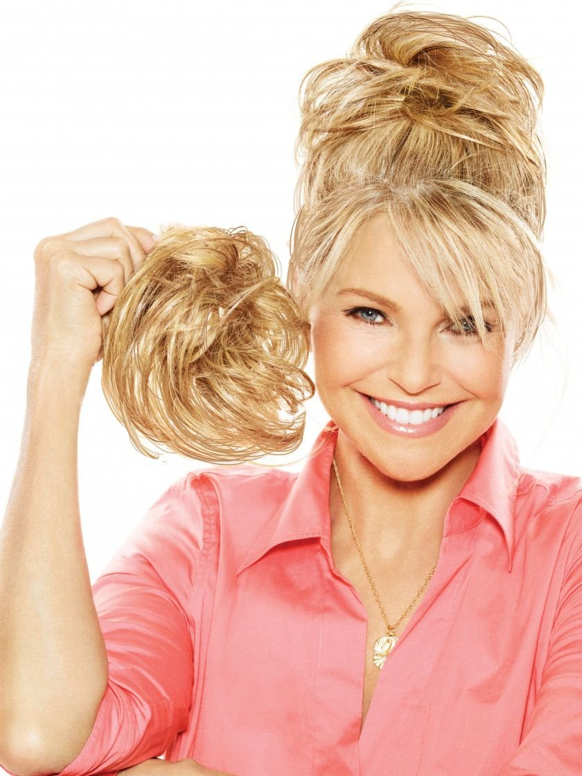 Natural Tone Hair Wrap Color HT14/88H Light Blonde - Christie Brinkley 6'' Overall Length Heat Friendly Textured Hairpiece Fun Bun Chignon
