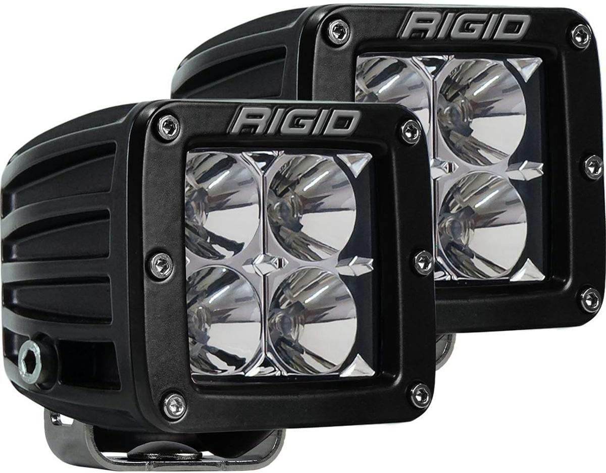 "Rigid Industries 202113 LED Light (D-Series Pro, 3"", Flood Beam, Pair, Universal), 2 Pack: Automotive"