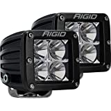 "Rigid Industries 202113 LED Light (D-Series Pro, 3"", Flood Beam, Pair, Universal), 2 Pack"