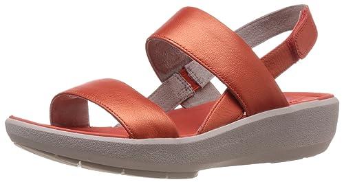 Clarks Women's Wave Shine Leather Flip Flip-Flops & House Slippers at amazon