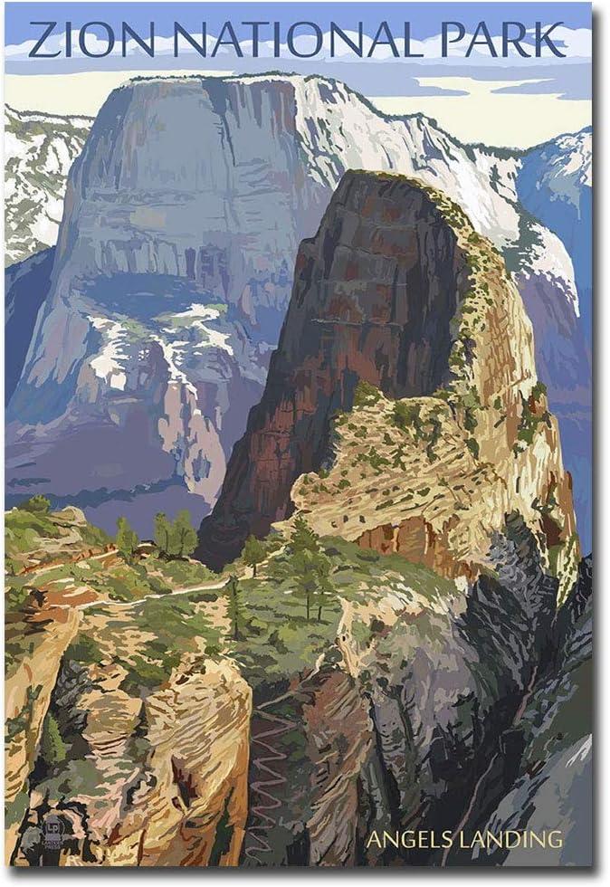 ZION NATIONAL PARK 2 Utah Travel Souvenir Flexible Fridge Magnet