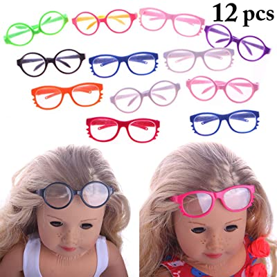 B bangcool 12 Pairs Doll Glasses Fashion Doll Eyeglasses Doll Accessories for 18in Doll: Everything Else [5Bkhe1803040]