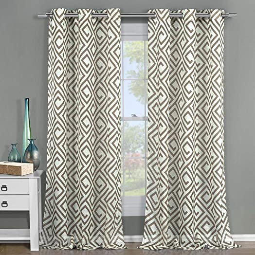 Duck River Textiles – Anna Sheer Grommet Top Window Curtains for Living Room Bedroom – Assorted Colors – Set of 2 Panels 51 X 84 Inch – Taupe