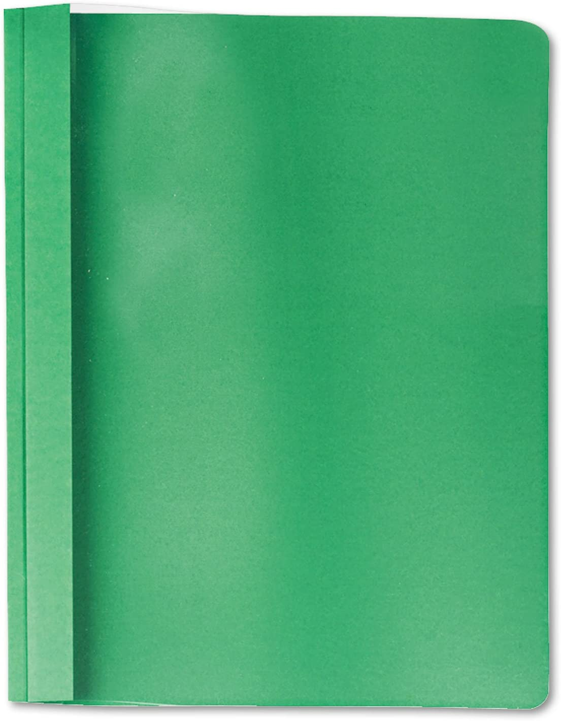 Universal 57124 Clear Front Report Cover Letter Size Tang Fasteners 25//Box Green