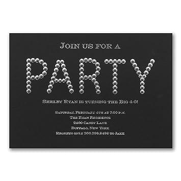 Amazon Com 50pk Diamond Diva Invitation Birthday Invitations