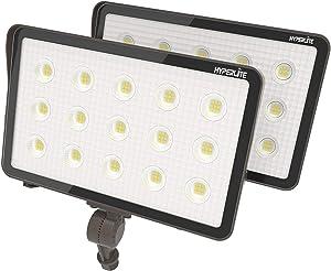 HYPERLITE 70W LED Flood Lights Outdoor with Knuckle Mount 7,700Lm 5000K IP65 Waterproof Flood Lights for Yard Garden Garage UL Listed 2 Pack