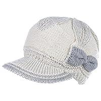 an Womens Winter Visor Cap Beanie Hat Wool Blend Lined Crochet Decoration