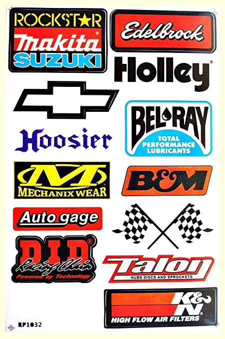 Amazon.com: Cars Nos Hoosier Holley BMW Mopar Texaco Drag Racing Lot 6 vinyl decals stickers D6023: Arts, Crafts & Sewing
