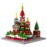 POCO DIVO Saint Basil's Cathedral St. Vasily the Blessed Russia Vasile Assumption Cathedral Pokrovsky Church Micro Block Building Set (1860 pcs)